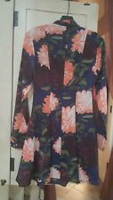Guess Dress Floral Long Sleeve Size 0