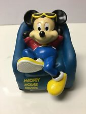 Vintage Walt Disney Company Mickey Mouse With Sunglasses In Chair A.M. Radio
