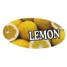Specialty Printing Oval Lemon Flavor Label 196 X 3132 1000roll
