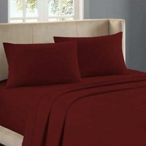 """1000 TC Egyptian Cotton 20"""" Deep Pocket Fitted Sheet All Bedding Item All Sizes"""