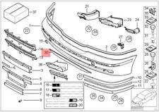 Genuine BMW E39 Bumper Cover Lower Trim Lip Spoiler Front OEM 51117026383