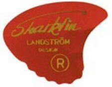 6 Genuine Landstrom GP10s Sharkfin Red Goldprint SOFT Guitar Picks / Plectrums