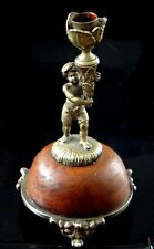 ravissant bougeoir putti bronze doré Old fine candlestick XIX