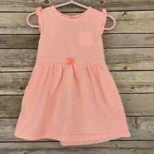 Carters Baby Girl Dress Cotton Knit Fit and Flare Sundress Sleeveless Bow 18M