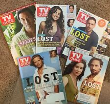 Tv Guide Magazine Lot: Five (5) Lost-Themed Issues: (1) 2005 And (4) 2006