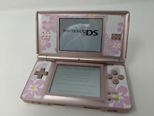 Nintendo DS Lite Metallic Pink Rose Handheld Console System Only Decals TESTED