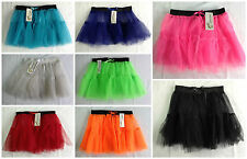 NEW GIRLS AGES 7-12 YEARS FANCY DRESS BALLET 2 LAYER NET TUTU SKIRT DANCEWEAR