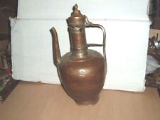vtg hammered copper wine / tea pot unknown spanish gothic midevil medieval