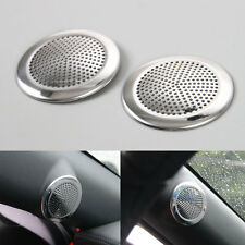 2pcs Stainless Audio Speaker Sound Trim Cover Ring Trim For Ford Mustang 2015 16