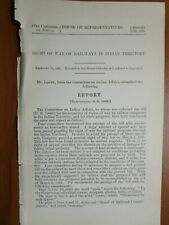 Government Report 2/12/1902 US Right of Way Railways Indian Territory Native
