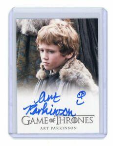 Game of Thrones Season 1 Art Parkinson as Rickon Stark FB Auto Autograph Smiley