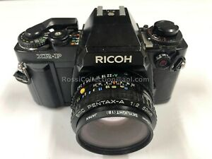 C02_021  Ricoh XR-P 35mm Camera with 50mm SMC Pentak-A Lens Stamped Japan