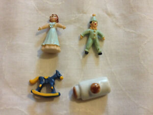Dolls House Miniature - Hot Water Bottle & Toys (Rocking Horse, Clown & Doll)