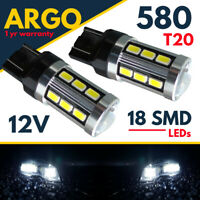 W21/5w T20 580 Sidelight Led Super White Cree Drl 7443 Hid Xenon Smd Bulbs 12v