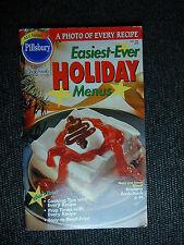 PILLSBURY Cookbook Booklet EASIEST EVER HOLIDAY MENUS  1995 #178