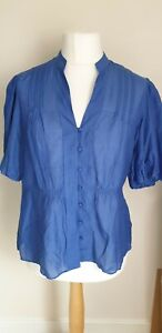 Marks /& Spencer Pure Soie Chemisier Taille 8 Bnwt