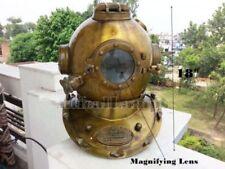 Antique Scuba SCA U.S Navy Mark V Diving Divers Helmet Deep Sea Full Size Diver