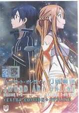 DVD Sword Art Online Season 1 + 2+Extra Edition(English Dub)+Offline (Jap Dub)