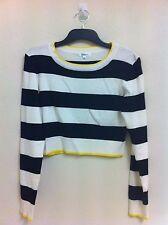 ValleyGirl stripes knit crop top sweater, size M