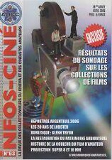 INFOS-CINÉ n°63 (2006) Proj.16 mm SIEMENS