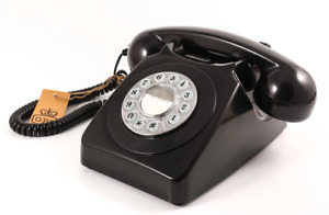 Retro Telephone - Push Dialling - New - GPO - Black