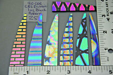 As Pictured Pack #25 Pattern Dichroic Scrap Glass 1oz Thin Black CBS 90 COE