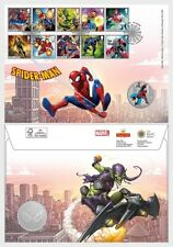 Great Britain  2019 MARVEL COMICS SPIDERMAN  MEDAL COVER   mnh u
