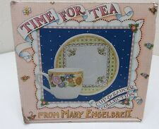 Mary Engelbreit TIme For Tea Cup And Saucer Bloom Where You're Planted In Box