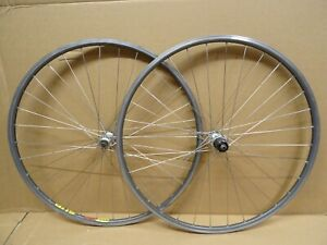 Vintage Mavic Open SUP CD 700c Wheels 105 Hubs QR Double Eyelet DB Spokes