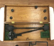 Navigational Drafting Machine Aircraft Military 1940's & Wood Case Authentic