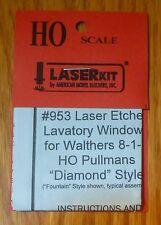 American Model Builders, Inc. HO #953 Pullman 8-1-2 Lavatory Laser-Cut Window