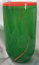 🌟 ROSENTHAL GERMANY ART GLASS GREEN ORANGE STUDIO LINIE VASE sticker intact