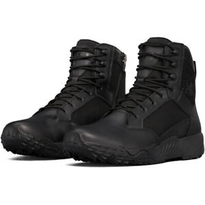 """Under Armour 1303129 Men's UA Stellar 8"""" Tactical Side-Zip Duty Leather Boots"""