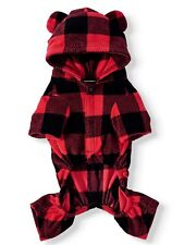 New listing Holiday Time 🎄Union Bear Suit🎄Pj's For Pets Dog Christmas Size 2Xl Black Red