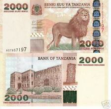 TANZANIA 2000 Shillings Banknote World Money Currency Bill  p37 Africa Note Lion
