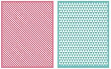 Lifestyle Crafts QuicKutz, Double Pack, A2 Embossing Folders  LINEAR ~ EF0016