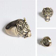 Final Fantasy VII 7 FF Cloud Wolf Ring Alloy Metal Ring Bronze + Gift Box