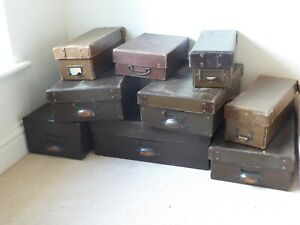Vintage mid 20th C. English Haberdashery Boxes Various Sizes Available