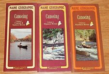 SET VTG. MAINE GEOGRAPHIC CANOEING COASTAL & EASTERN~WESTERN~NORTHERN RIVERS