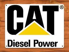 "TIN-UPS TIN SIGN ""Cat Diesel"" Oil Heavy Equipment Garage Vintage Wall Decor"