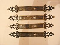 LOT of 4 Antiqued Brass Ornate BACKPLATES Hardware