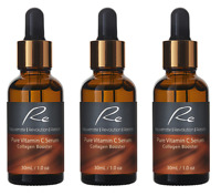 Pure Vitamin C Serum Collagen Booster with Hyaluronic Acid - 3 pack - 3x30ml