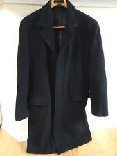 Men's Banana Republic Black Cashmere & Wool Overcoat Jacket Sz L