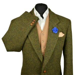 Harris Tweed Tailored Country Green Blazer Jacket 44R #959 PRISTINE GARMENT