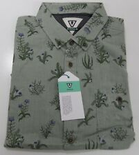 "NWT Men VISSLA ""Thicket"" Shirt Button Down Woven Casual Surf MEDIUM"
