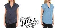 Women's Jachs Girlfriend Cap Sleeve Button Down Shirt Tencel Lyocell Blouse NWT