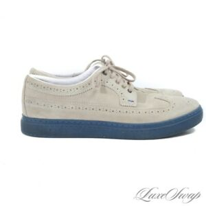 Paul Smith London Taupe Suede Blue Sole MODERN Longwing Sneakers Shoes 10 NR