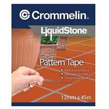 Crommelin LIQUIDSTONE PATTERN TAPE 12mmx45m Reinforced & UV Stable *Aust Brand