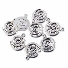 10 Tibetan Silver Whirlpool Dangle Pendant Charms Lot Bracelet Beads Wholesale