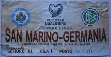 TICKET WM Quali 11.11.2016 San Marino - Deutschland (D1)